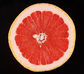 One half of grapefruit