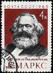 USSR postage stamp Karl Marx