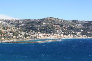 Ospedaletti on the Ligurian Riviera (Italy, Sanremo)