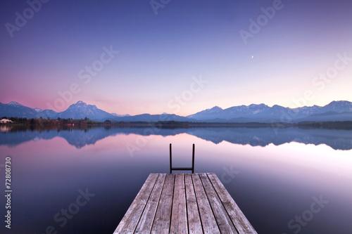 Poster Stille am See - Morgenlicht