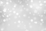 Fototapety Weihnachtsbokeh silber