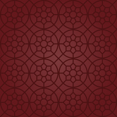 Circle and Star Motifs (Claret Red)