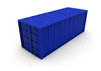 blue container isolated