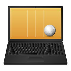 laptop volleyball
