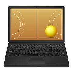 laptop handball