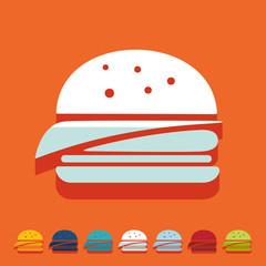 Flat design: hamburger