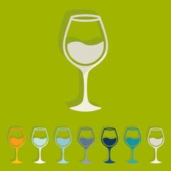 Flat design: wineglass