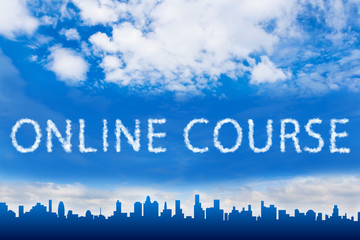 Online course text on cloud