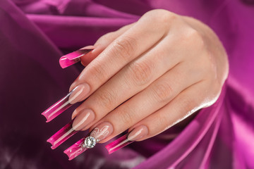 Female hand with manicure