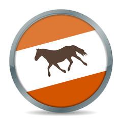 button pferd im trab