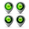 Green timer icons