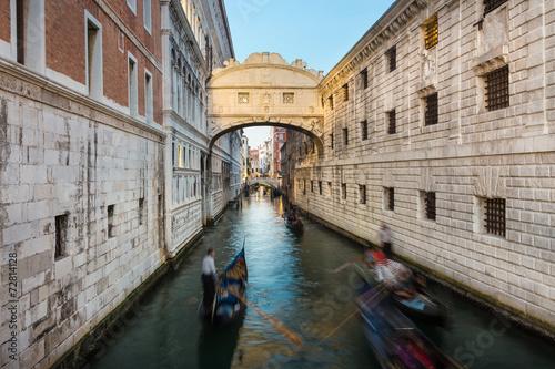 Tuinposter Venice Bridge of Sighs, Venice, Italy.