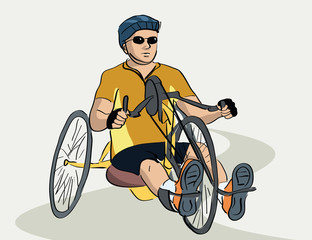 disabled man on a bicycle
