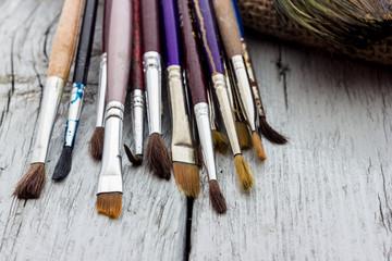old paintbrushes used