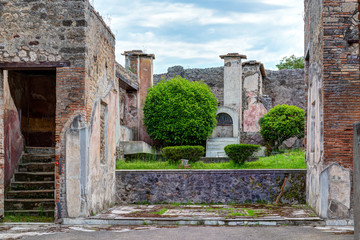 Ruins of a house in Pompeii, Italy