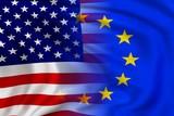 Fototapety USA and EU flag