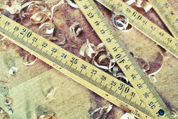 Old folding ruler