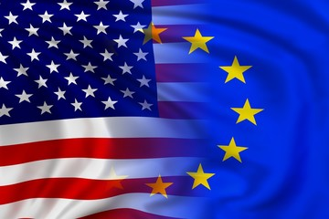 USA and EU flag
