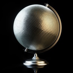 Conceptual picture of disco ball in globe view