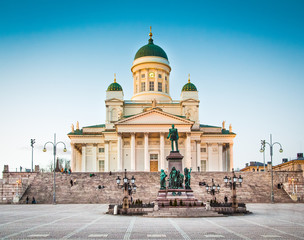 Helsinki Cathedral in evening light, Helsinki, Finland