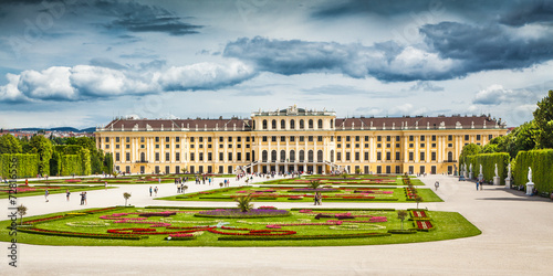 Schonbrunn Palace with gardens in Vienna, Austria