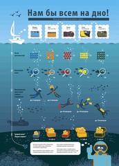 Инфографика сравнивает фотоаппараты для подводного плавания