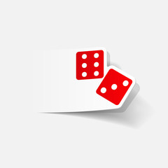 realistic design element: dice