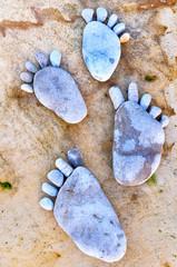 Footprint of stones