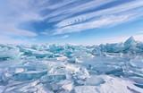 Ice hummocks at Lake Baikal