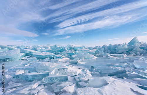 Ice hummocks at Lake Baikal