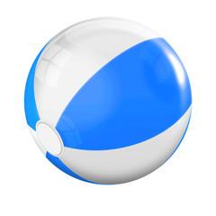 Badeball blau, weiss freigestellt
