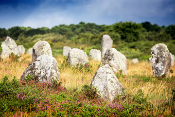 standing stone Carnac, France, Europe