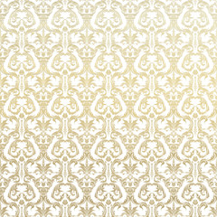 Retro background floral golden pattern