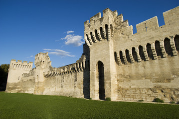 The Avignon city-walls