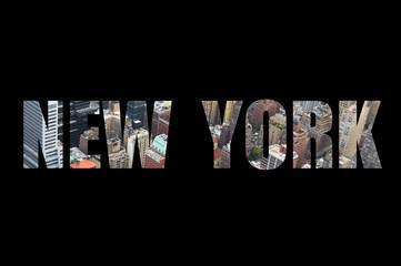 New-York concept lettres découpées