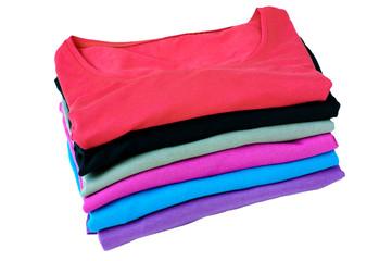 Stack of basis t-shirts