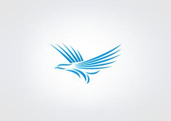 Bird Logo Business icon Symbol Woman