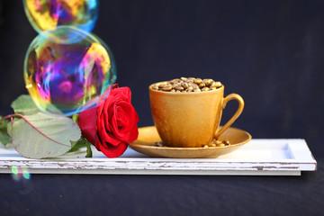Kaffeetasse mit Seifenblasen