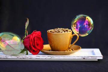 Kaffeetasse mit Seifenblase