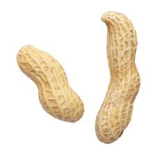 raw dried peanut on a white background
