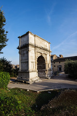 Arco di Tito ( Arch of Titus ) in Rome Italy