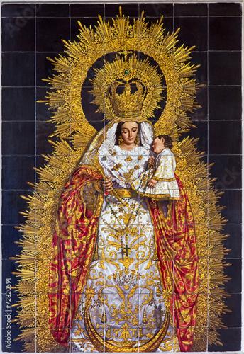 Seville -  The ceramic tiled Madonna