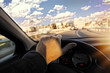 Driver in car