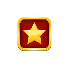 Gold star. Vector