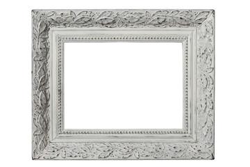 Vintage white frame closeup