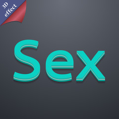 sex icon symbol. 3D style. Trendy, modern design with space for