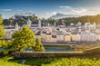 Historic city of Salzburg at sunset, Salzburger Land, Austria