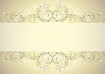 Golden floral background frame
