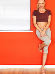 Young Attractive Fitness Woman Resting