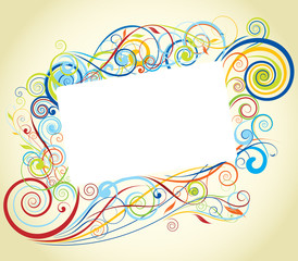 Swirl color frame